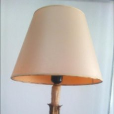Antigüedades: PORTAVELA ADAPTADA A LAMPARA. Lote 50997696