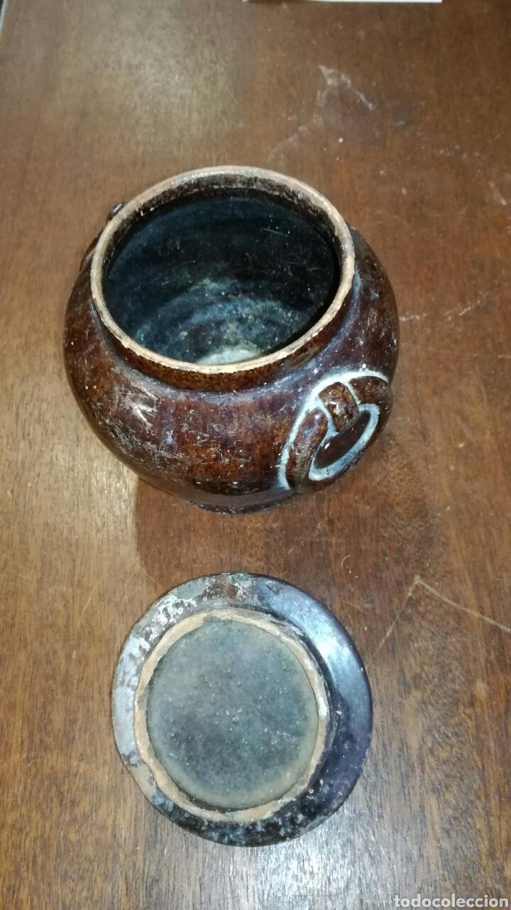 Antigüedades: Puchero de barro muy bonito y antiguo marrón - Foto 3 - 120927862