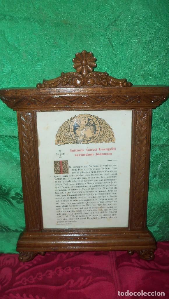 PRECIOSA PIEZA SACRA EN MADERA (Antigüedades - Religiosas - Orfebrería Antigua)