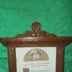 Antigüedades: PRECIOSA PIEZA SACRA EN MADERA. Lote 120950119