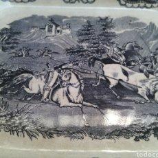 Antigüedades: BANDEJA FUENTE OCHAVADA.CAZA DEL TORO.LA AMISTAD.CARTAGENA.35X27X3CM.. Lote 120963004
