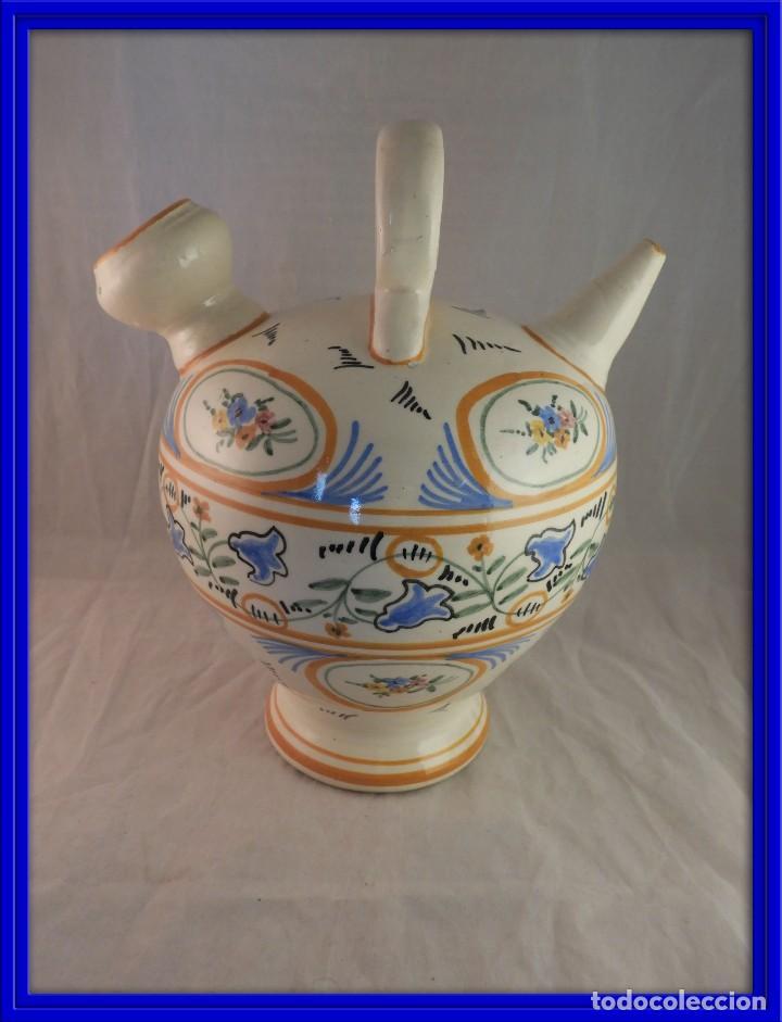 ANTIGUO BOTIJO CERAMICA DE TALAVERA (Antigüedades - Porcelanas y Cerámicas - Talavera)