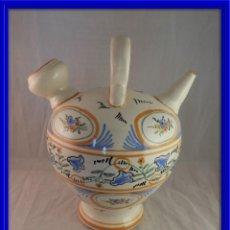 Antigüedades: ANTIGUO BOTIJO CERAMICA DE TALAVERA . Lote 120971911
