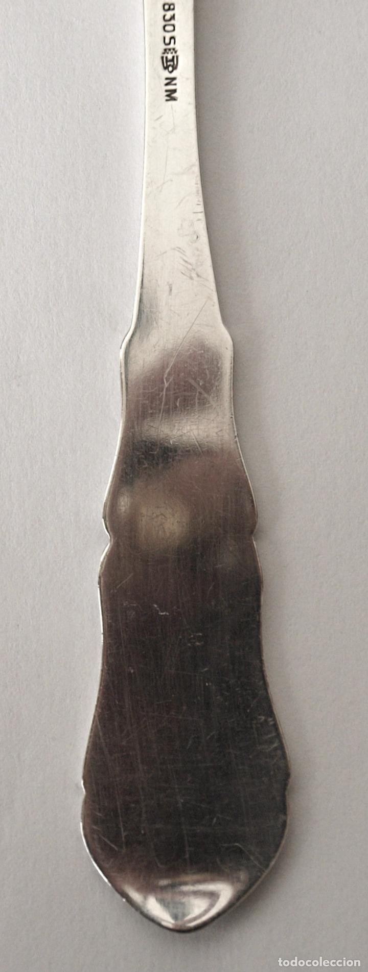 Antigüedades: CUCHARA SOPERA DE PLATA DE LEY CONTRASTADA 830. 37 GRAMOS. 18,5 CM LARGO.VER FOTOS Y DESCRIPCION - Foto 8 - 120972603