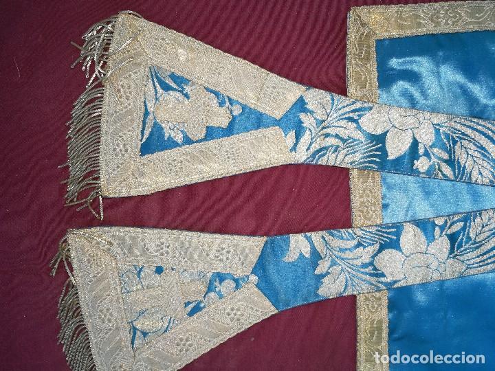 Antigüedades: , dalmática,estola pañuelo cubrecaliz de la Inmaculada - Foto 2 - 130405670