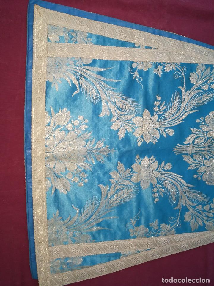 Antigüedades: , dalmática,estola pañuelo cubrecaliz de la Inmaculada - Foto 3 - 130405670