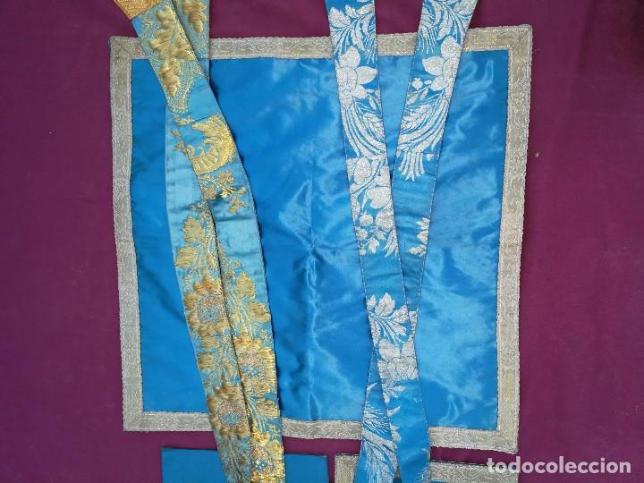Antigüedades: , dalmática,estola pañuelo cubrecaliz de la Inmaculada - Foto 4 - 130405670