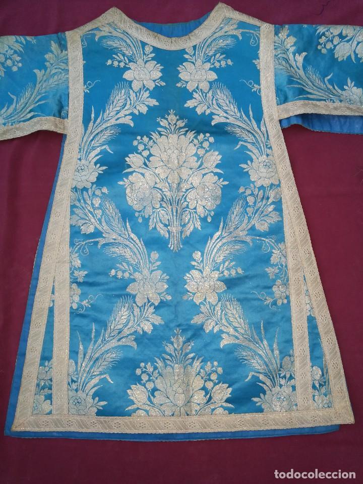 Antigüedades: , dalmática,estola pañuelo cubrecaliz de la Inmaculada - Foto 12 - 130405670
