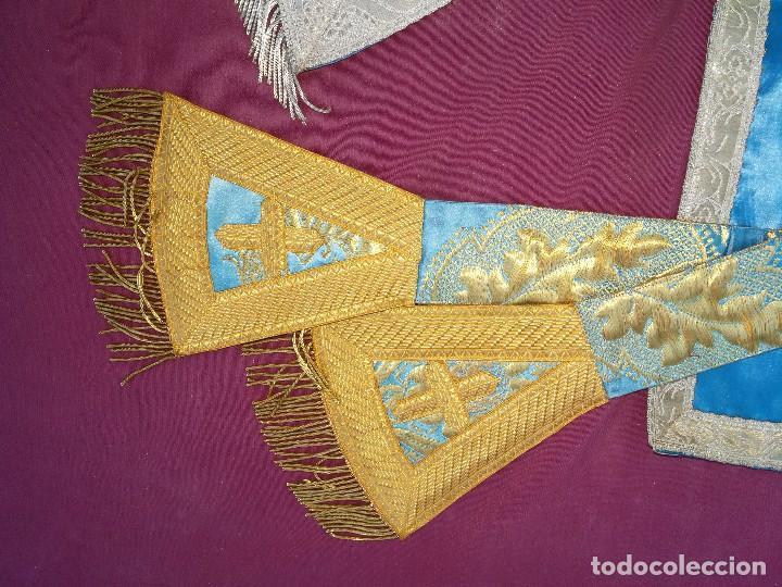 Antigüedades: , dalmática,estola pañuelo cubrecaliz de la Inmaculada - Foto 13 - 130405670