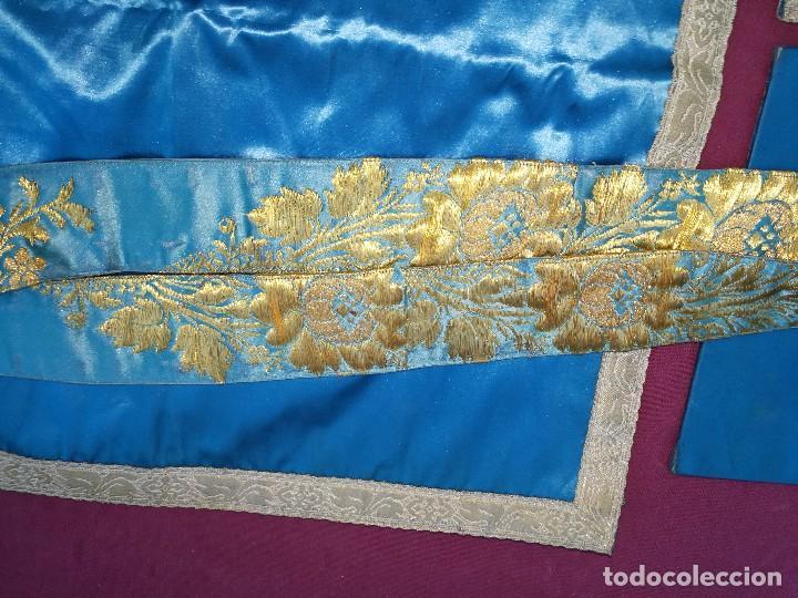 Antigüedades: , dalmática,estola pañuelo cubrecaliz de la Inmaculada - Foto 17 - 130405670