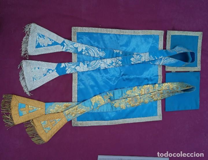 Antigüedades: , dalmática,estola pañuelo cubrecaliz de la Inmaculada - Foto 20 - 130405670
