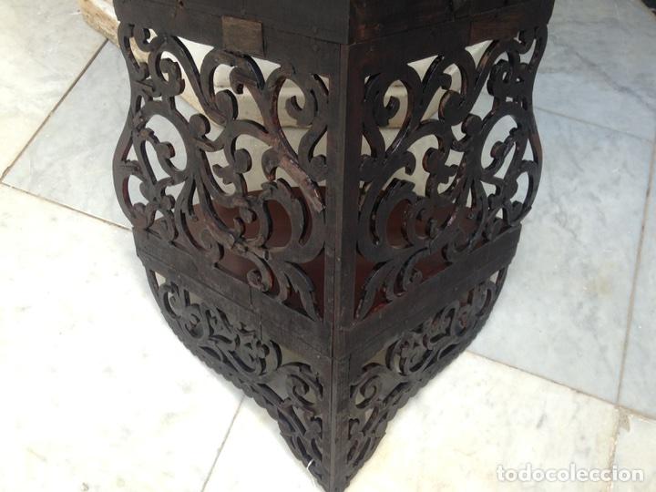 Antigüedades: Estantería rinconera, repisa de caoba siglo XIX, restaurada - Foto 9 - 121005755