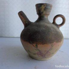 Antigüedades: MUY ANTIGUO BOTIJO O ACEITERA DE MUY BUEN BARRO (SE DESCONOCE LA ÉPOCA Y LA PROCEDENCIA). Lote 121013403