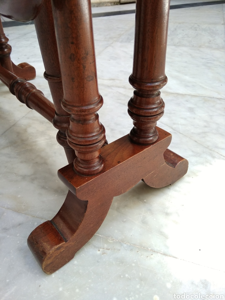 Antigüedades: Mesa de alas de caoba victoriana siglo XIX - Foto 3 - 121020003
