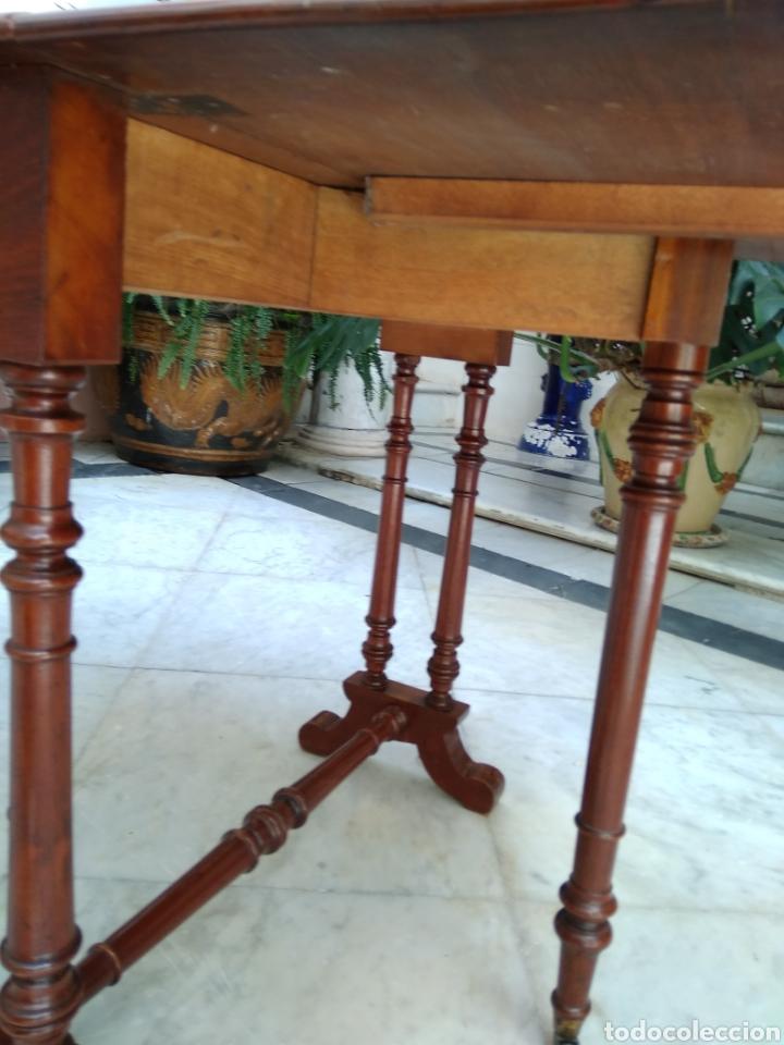 Antigüedades: Mesa de alas de caoba victoriana siglo XIX - Foto 4 - 121020003