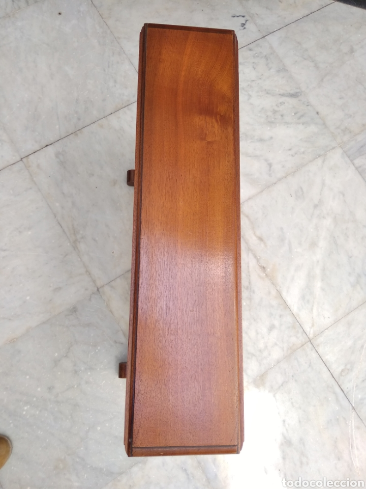 Antigüedades: Mesa de alas de caoba victoriana siglo XIX - Foto 7 - 121020003