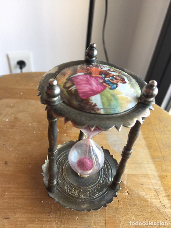 Antigüedades: Precioso reloj de arena estilo Isabelino - Foto 5 - 121040476