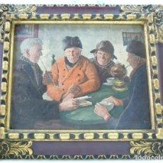 Antigüedades: MARCO DE MADERA FABRICADO POR CUADROS ARTÍSTICOS MANUEL HORMAECHEA DE BILBAO AÑOS 30-40. Lote 147750018