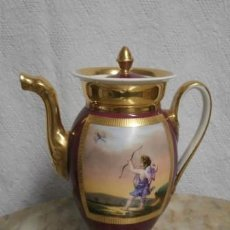 Antigüedades: CAFETERA PORCELANA IMPERIO. Lote 121056843