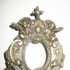 Antigüedades: PRECIOSA CUSTODIA OSTIARIO ALTAR IGLESIA EN BRONCE XIX TAL CUAL FOTOS. Lote 121073247