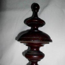Antigüedades: ADORNO CENTRAL DE MADERA PARA CAMA ISABELINA. Lote 121073575