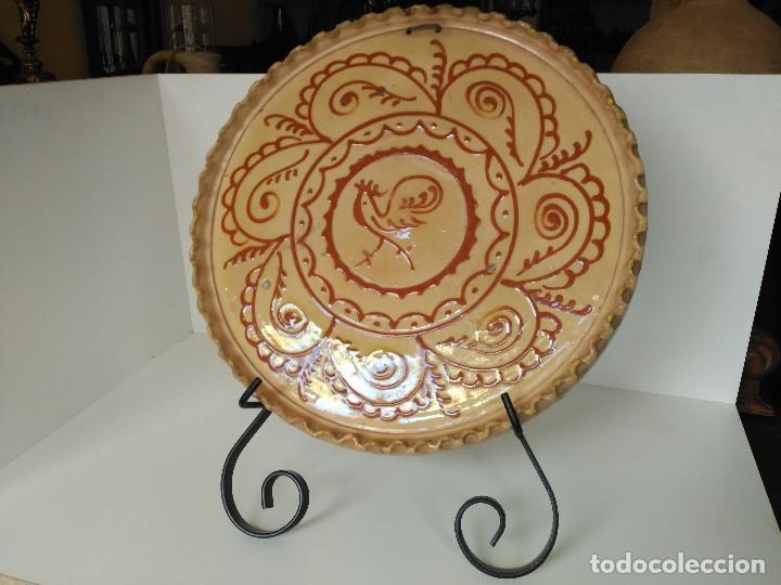 Antigüedades: Gran plato antiguo firmado hermanos Almarza - Foto 2 - 121076135
