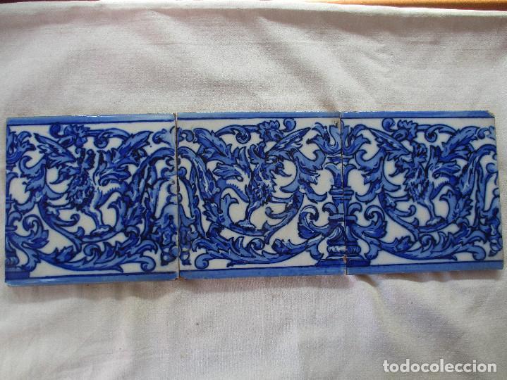 AZULEJOS DE TRIANA PINTADOS SIGLO XIX (Antigüedades - Porcelanas y Cerámicas - Triana)