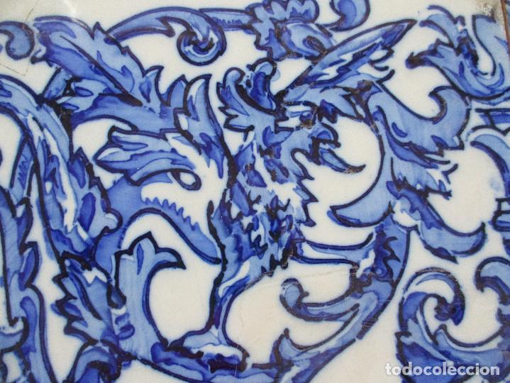 Antigüedades: Azulejos de Triana pintados siglo XIX - Foto 2 - 121081879
