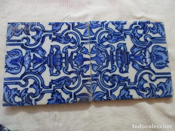 PAREJA DE AZULEJOS DE TRIANA SIGLO XIX (Antigüedades - Porcelanas y Cerámicas - Triana)