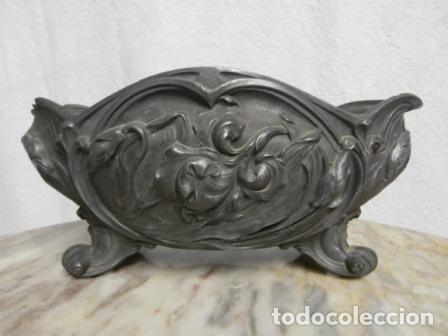 JARDINERA ESTAÑO 1900 (Antigüedades - Hogar y Decoración - Jardineras Antiguas)