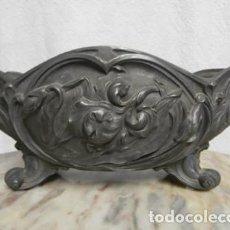 Antigüedades: JARDINERA ESTAÑO 1900. Lote 121087395