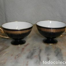 Antigüedades: PAREJA DE TAZAS PORCELANA DE BAVARIA. Lote 121088575