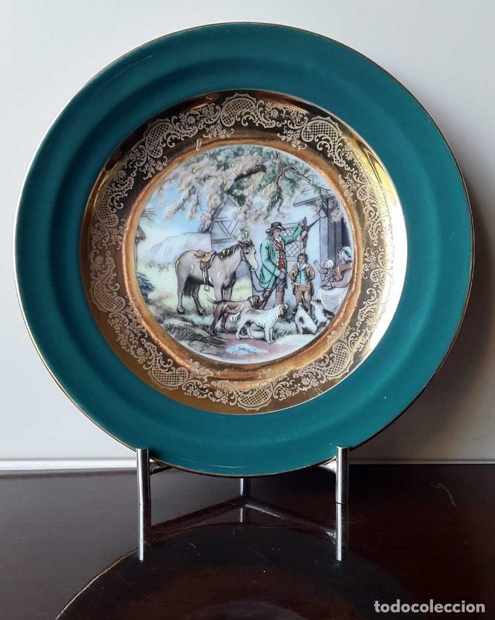 Antigüedades: PLATO PORCELANA LIMOGES. FIRMADO. - Foto 6 - 93116785