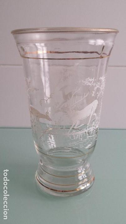 VASO VIDRIO LA INDUSTRIA ASTURIAS (Antigüedades - Cristal y Vidrio - Otros)
