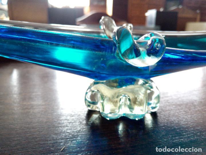 Antigüedades: Centro de mesa cenicero de cristal de murano, Gondola Veneciana. - Foto 5 - 121104707