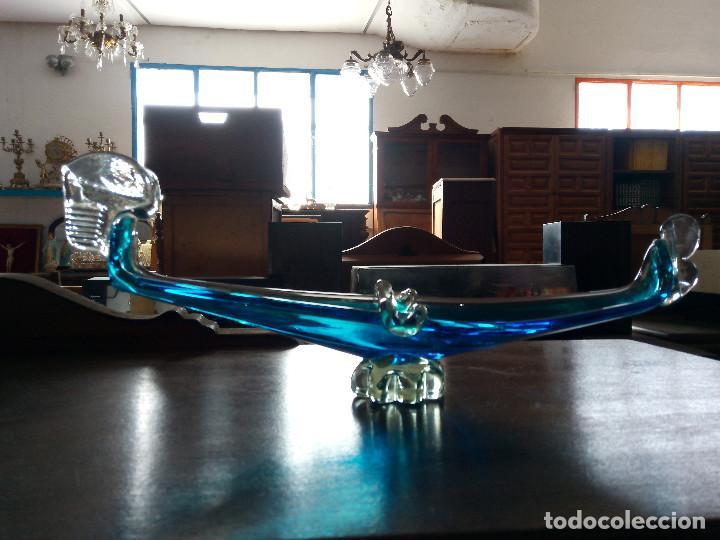 Antigüedades: Centro de mesa cenicero de cristal de murano, Gondola Veneciana. - Foto 7 - 121104707