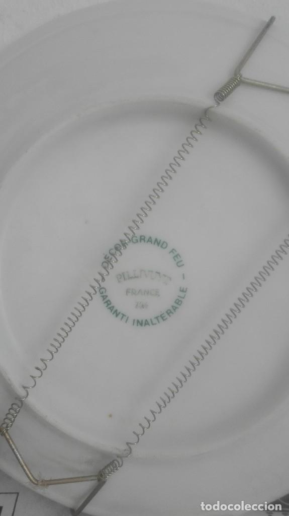 Antigüedades: Antiguo plato decorativo francés Pillivuyt - Foto 2 - 121107855
