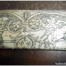 Antigüedades: PLACA GRABADA EN MARFIL. SIGLO XVIII.. Lote 121159899