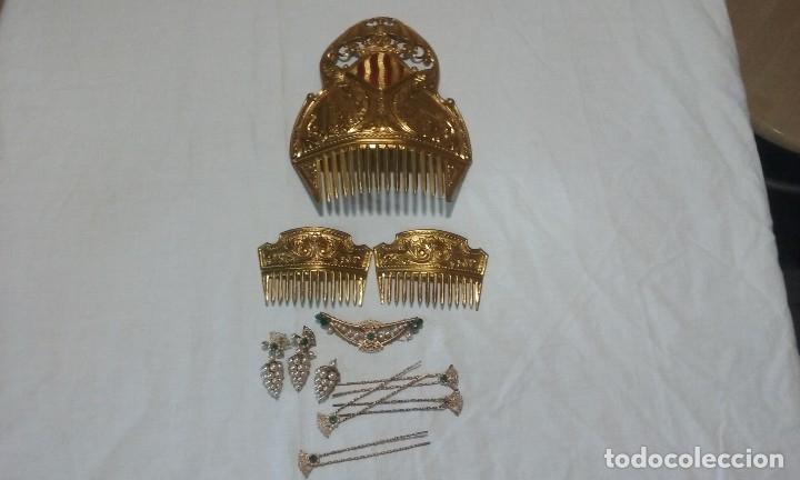 Antigüedades: Lote peinetas y mantilla. - Foto 3 - 121168751