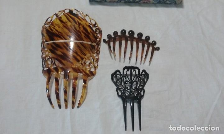 Antigüedades: Lote peinetas y mantilla. - Foto 7 - 121168751