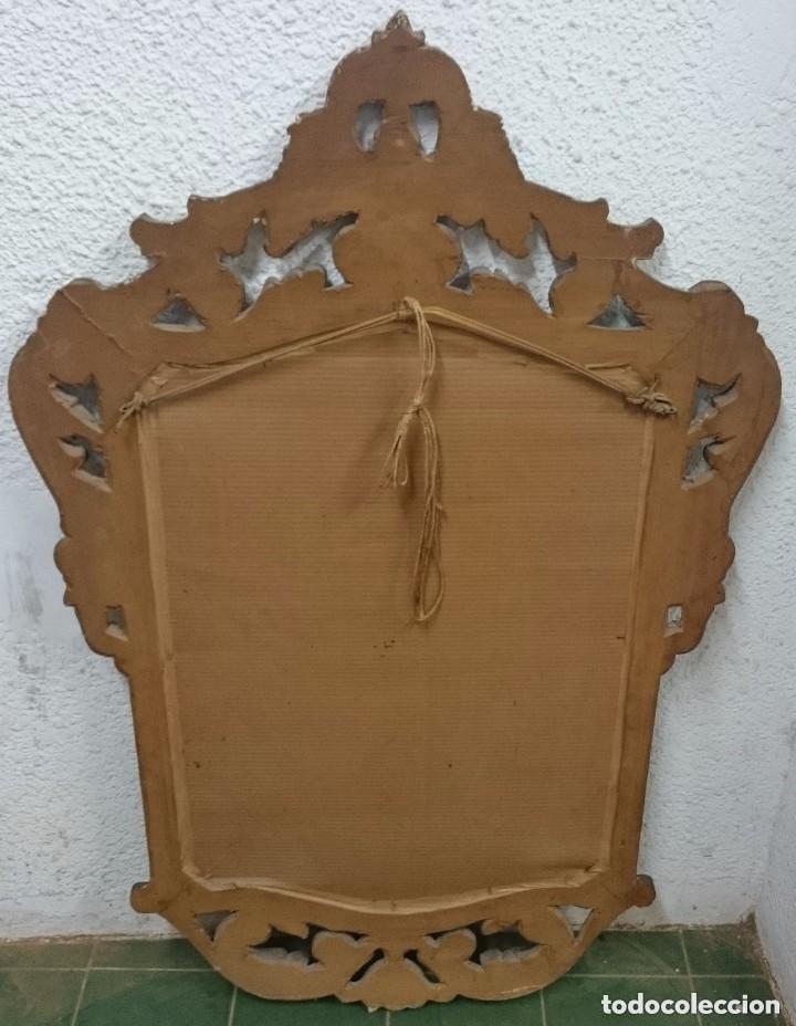 Antigüedades: Antiguo espejo imperio. Napoleón III de madera dorado al oro fino y lacado. Siglo XIX.117x76cm - Foto 3 - 121169991