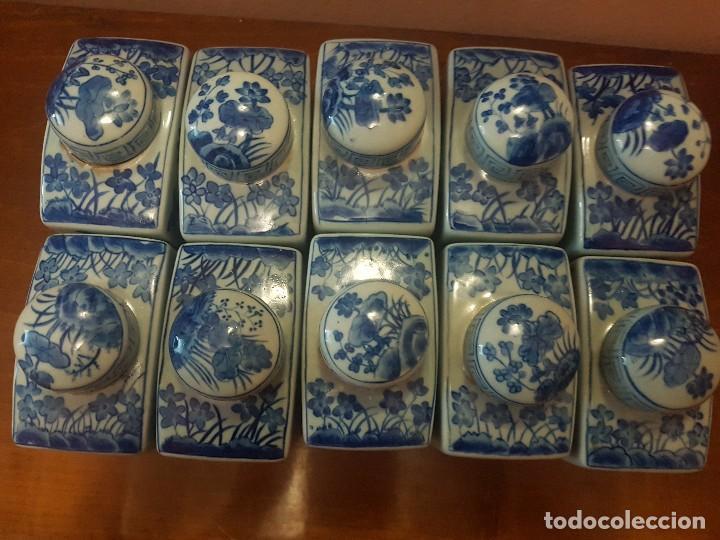 Antigüedades: botellas. porcelana. esmaltada a mano en azul.china - Foto 2 - 121179839