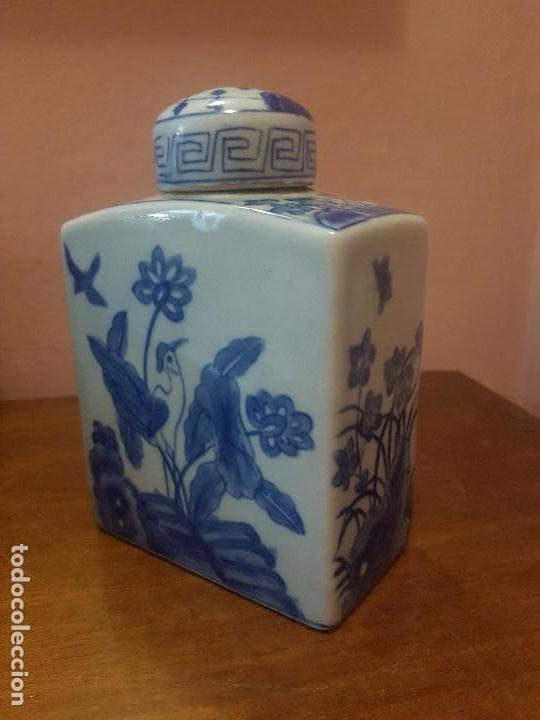 Antigüedades: botellas. porcelana. esmaltada a mano en azul.china - Foto 4 - 121179839