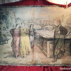 Antigüedades: ANTIGUO TAPIZ DANTE ET BEATRICE ITALIANO. CIRCA 1900,,PERFECTO !!!. Lote 121226007