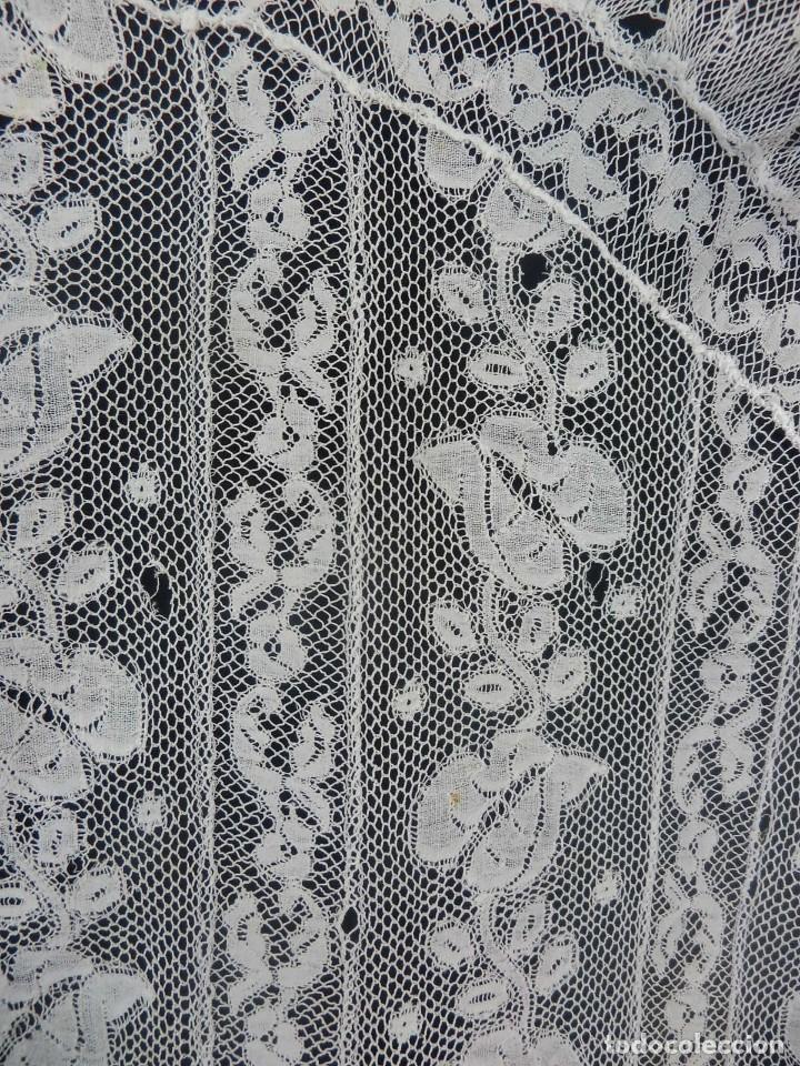 Antigüedades: 1512 tapete encaje antiguo a revisar - Foto 7 - 121230911