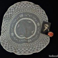 Antigüedades: 1515 TAPETE REDONDO ENCAJE ANTIGUO. Lote 121231319