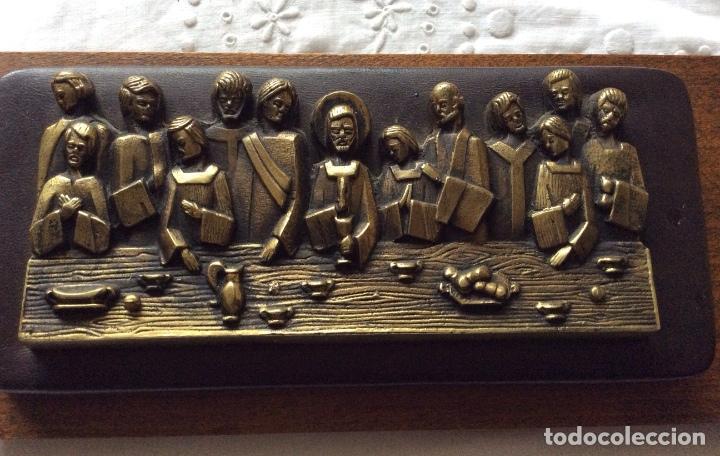 Antigüedades: SAGRADA CENA AÑOS 60 para colgar -de pequeño tamaño - Foto 2 - 121241107