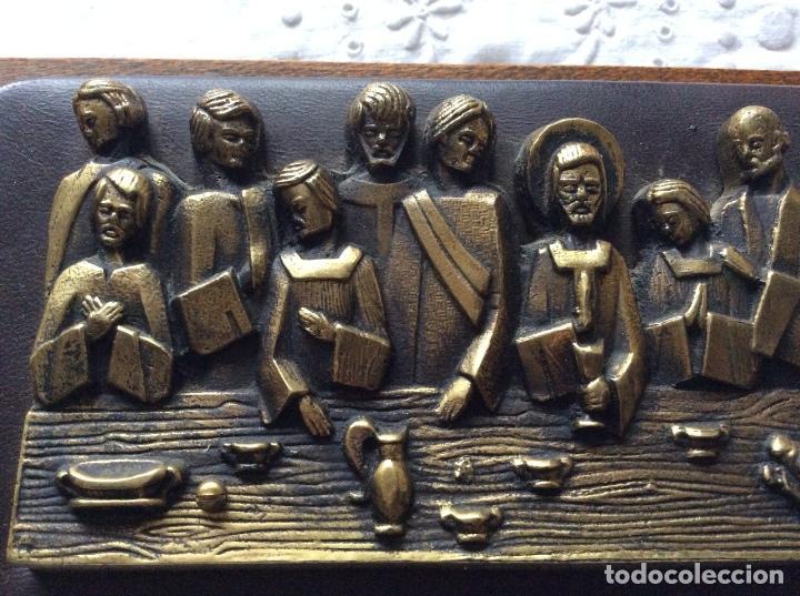 Antigüedades: SAGRADA CENA AÑOS 60 para colgar -de pequeño tamaño - Foto 3 - 121241107