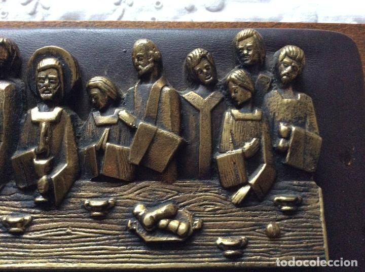 Antigüedades: SAGRADA CENA AÑOS 60 para colgar -de pequeño tamaño - Foto 4 - 121241107