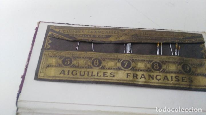 Antigüedades: ANTIGUA CAJA DE ALFILERES AIGUILLES FRANCAISES - Foto 5 - 121244103